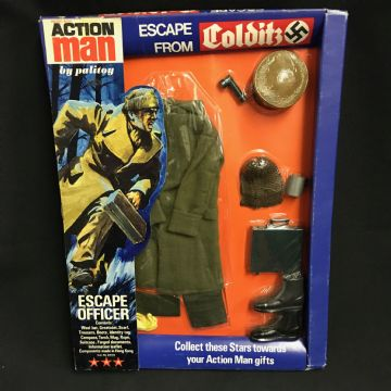 VINTAGE ACTION MAN - ESCAPE FROM COLDITZ - BRITISH ESCAPE OFFICER